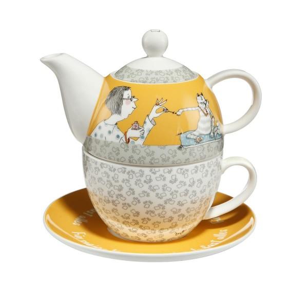Für meine Katze - Tea for One Bunt Barbara Freundlieb Goebel 27000471