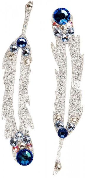 Hope 2 Silber-Blau 1016002DE Körperschmuck Swarovski Crystal Blue