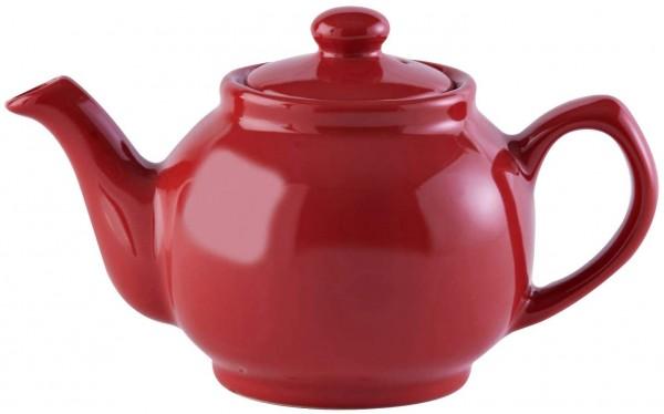 Price & Kensington, 6 Tassen Teekanne, Steingut, rot, glänzend 0056.760