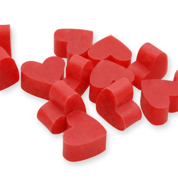 Florex Schafmilchseife mini mini Herz 50 Stück Granatapfel Seife Gastgeschenk 7275GA