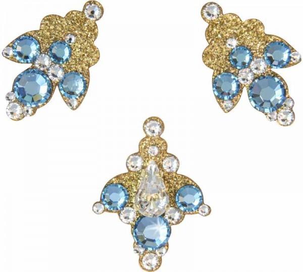 Venice 6 Gold-Türkis 1016040DE Körüerschmuck Swarovski Crystal Türkis