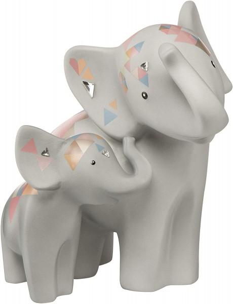 Goebel Elephant de Luxe* ED P Makena & Mvita 70000271 Bunt mit Patenschaftshinweis Porzellan