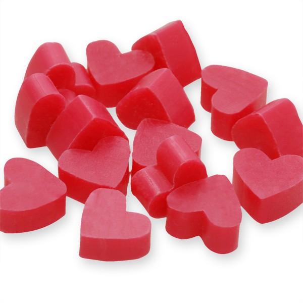 Florex Schafmilchseife mini mini Herz 100 Stück Lotus im Organzasäckchen Seife Gastgeschenk 7275LS