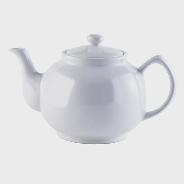Price & Kensington, 10 Tassen englische Teekanne, Steingut, weiß, klassisch 0056.722