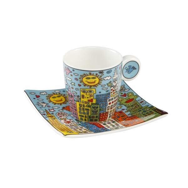Goebel James Rizzi City Day Espressotasse Fine Bone China 26102371 Mehrfarbig 100 milliliters