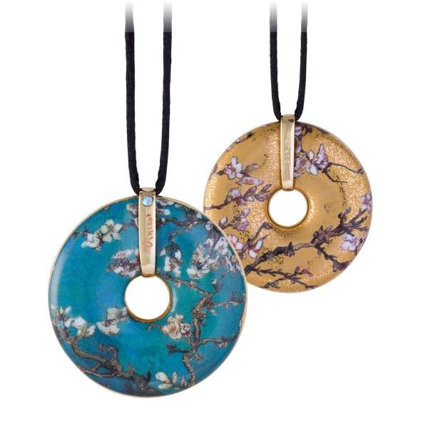 Mandelbaum Blau/Gold - Kette Gold Vincent van Gogh Goebel 66989633