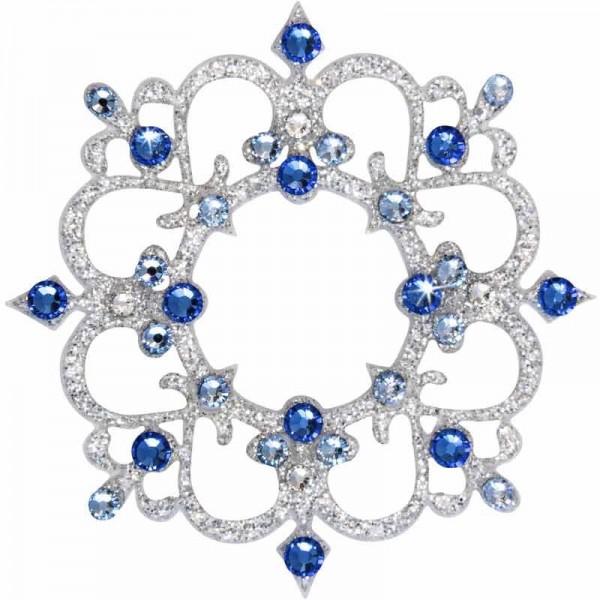 Rome 5 Silber-Blau 1016035DE Körperschmuck Swarovski Crystall Blau