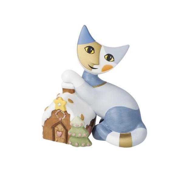 Goebel Casa di pan di zenzero Rosina Wachtmeister Katzen mit Lebkuchenhaus 31400501