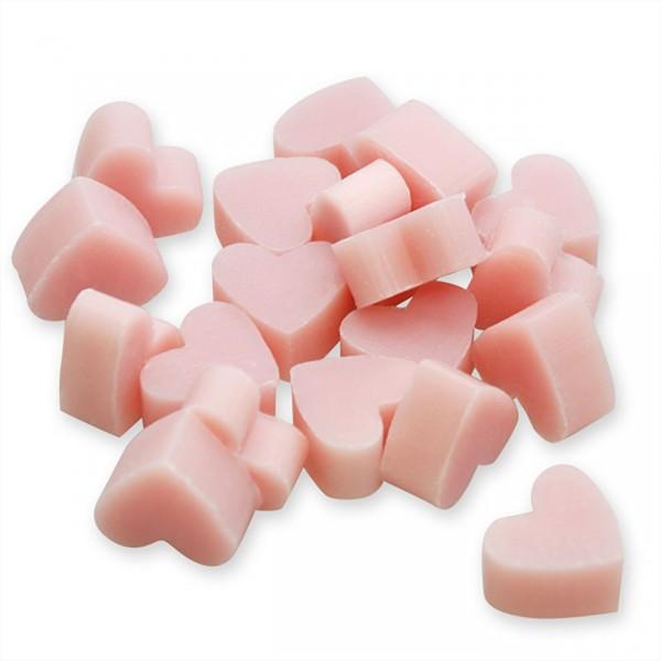 Florex Schafmilchseife rosa mini mini Herz 50 Stück Magnolie Seife im Organzasäckchen Gastgeschenk 7