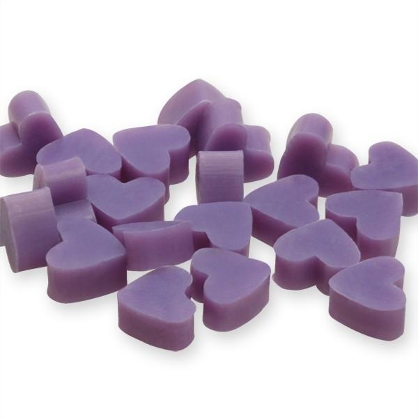 Florex Schafmilchseife mini mini Herz 50 Stück Lavendel - Limone Seife im Organzasäckchen Gastgesche