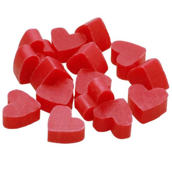 Florex Schafmilchseife mini mini Herz 50 Stück Hibiskus im Organzasäckchen Seife Gastgeschenk 7275HI