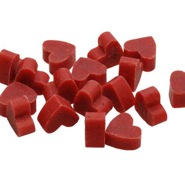 Florex Schafmilchseife mini mini Herz 100 Stück Rose mit Blüten im Organzasäckchen Seife Gastgeschen