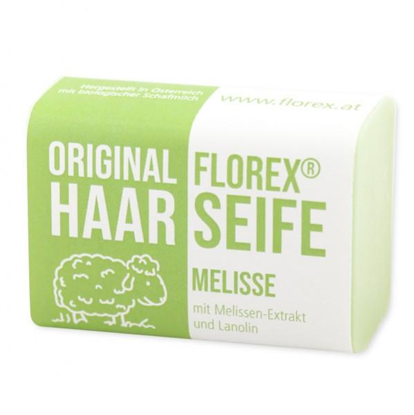 Florex Haar Seife Melisse mit Schafmilch erfrischt die Kopfhaut 100 g