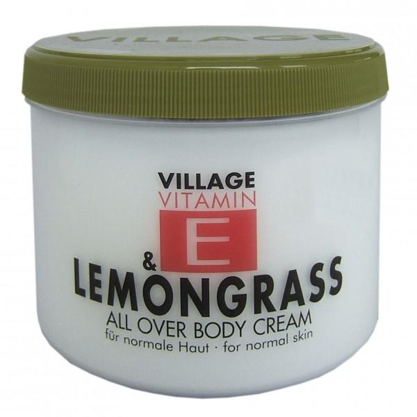 Village Vitamin E & Lemongrass All Over Body Cream, 500 ml 9506-20 Feuchtigkeitscreme