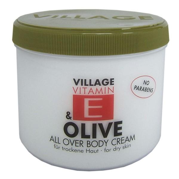 Village 9506-14 Olive Body Cream 500ml mit Vitamin E Feuchtigkeitscreme