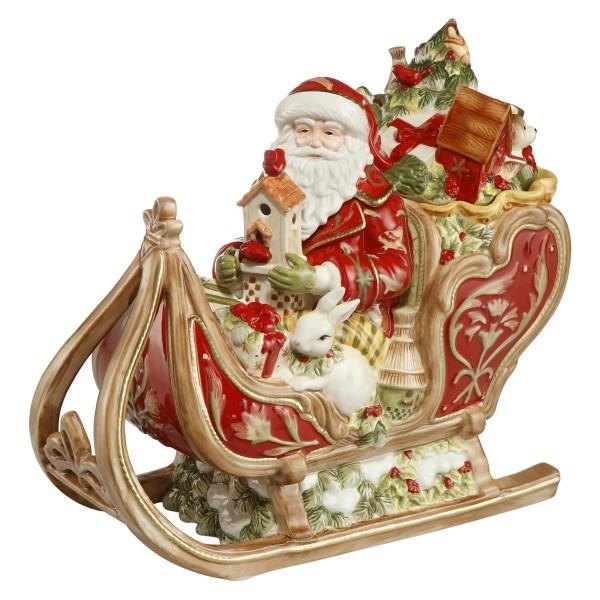 Dose - Santa auf Schlitten, Rot