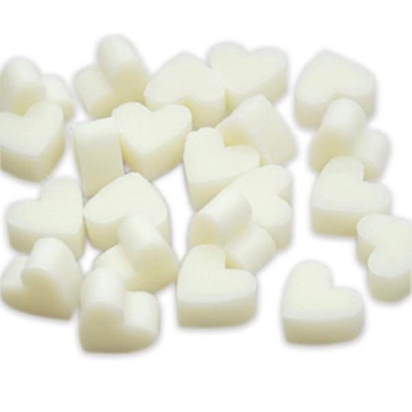 Florex Schafmilchseife mini mini Herz 50 Stück SCHNEEROSE - WEIß Seife Gastgeschenk7275SRO
