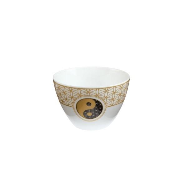 Blume des Lebens Weiß - Teelicht schwarz-weiß Yin Yang Goebel 23120141