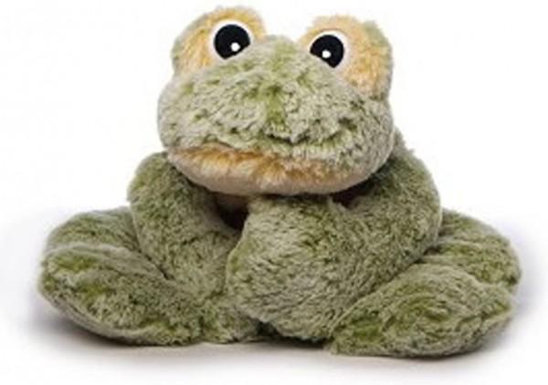 Inware 5641 - Kuscheltier Frosch Freaky, liegend, grün/gelb, 30 cm