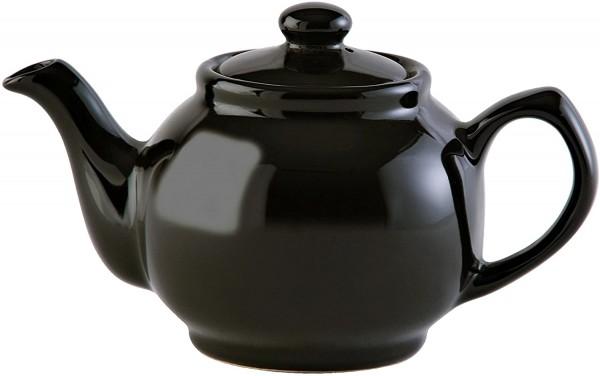 Price & Kensington - Teekanne mit Deckel - Farbe: Schwarz, Black - typisch englische Teekanne - 2 Ta