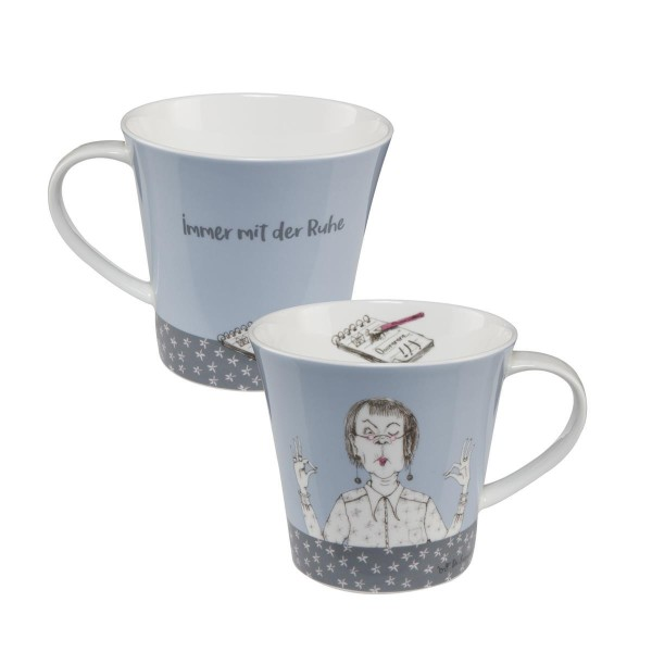 Immer mit der Ruhe - Coffee-/Tea Mug Bunt Barbara Freundlieb Goebel 27000051