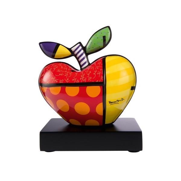 Goebel Figur Romero Britto - Big Apple - Porzellan auf Holzsockel 66451951