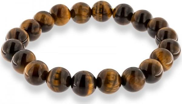 Tigeraugen Armband mit 10mm Tigerauge Perlen auf doppelten Gummiband AR002