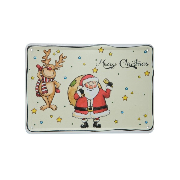 Postkarte Rudi & Clausi Pearly Velvet TF 2019 I Love Christmas Goebel 37000031
