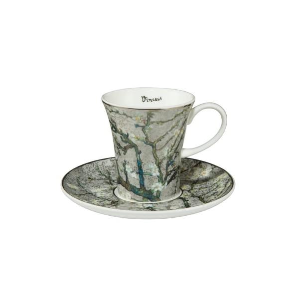 Mandelbaum Silber - Espressotasse Bunt Vincent van Gogh Goebel 67011581